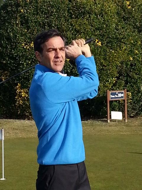 Yann Lavictoire, pro du golf de Belle-Ile